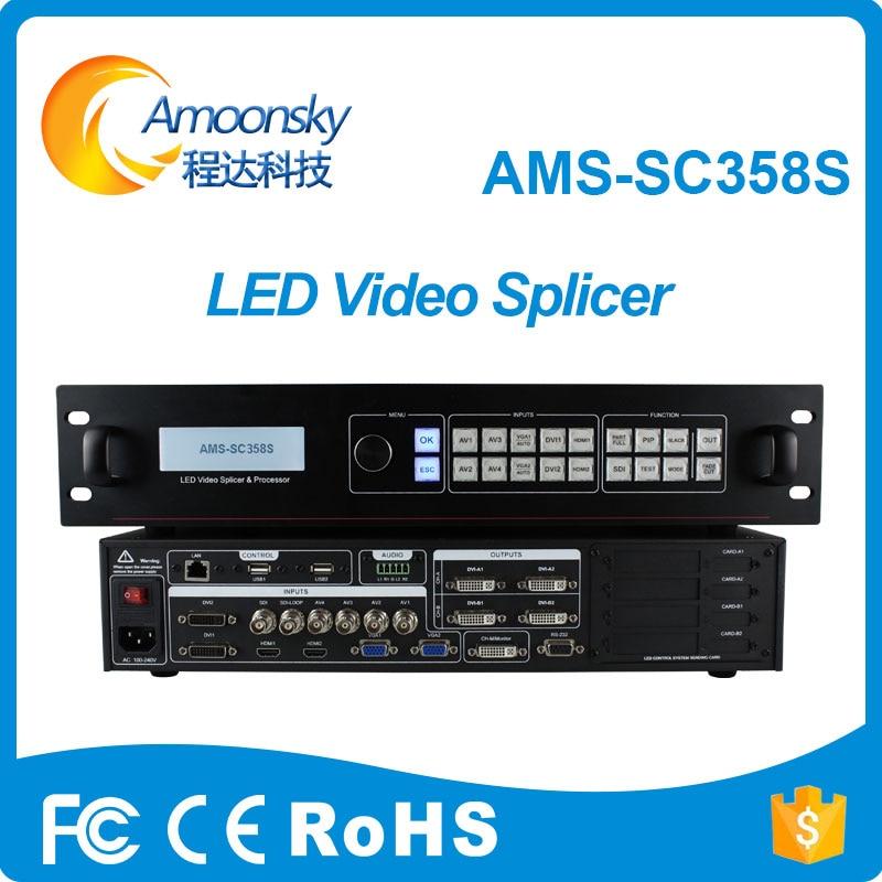 Rgb светодиодный стены Контроллер ams sc358s Светодиодный дисплей Видеопроцессор с AV VGA DVI DHMI SDI порт