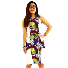 African Women Dress Custom Made Dashiki Print Clothes Wax And White Cotton Patchwork African Festive Dress Party Costume