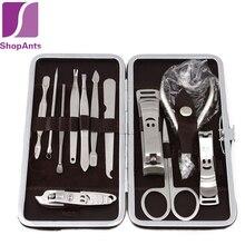 12 PCS/set Nail Art Manicure Tools Set Nails Clipper Scissors Tweezer Knife Manicure Sets Stone Pattern Case For Nail Manicure