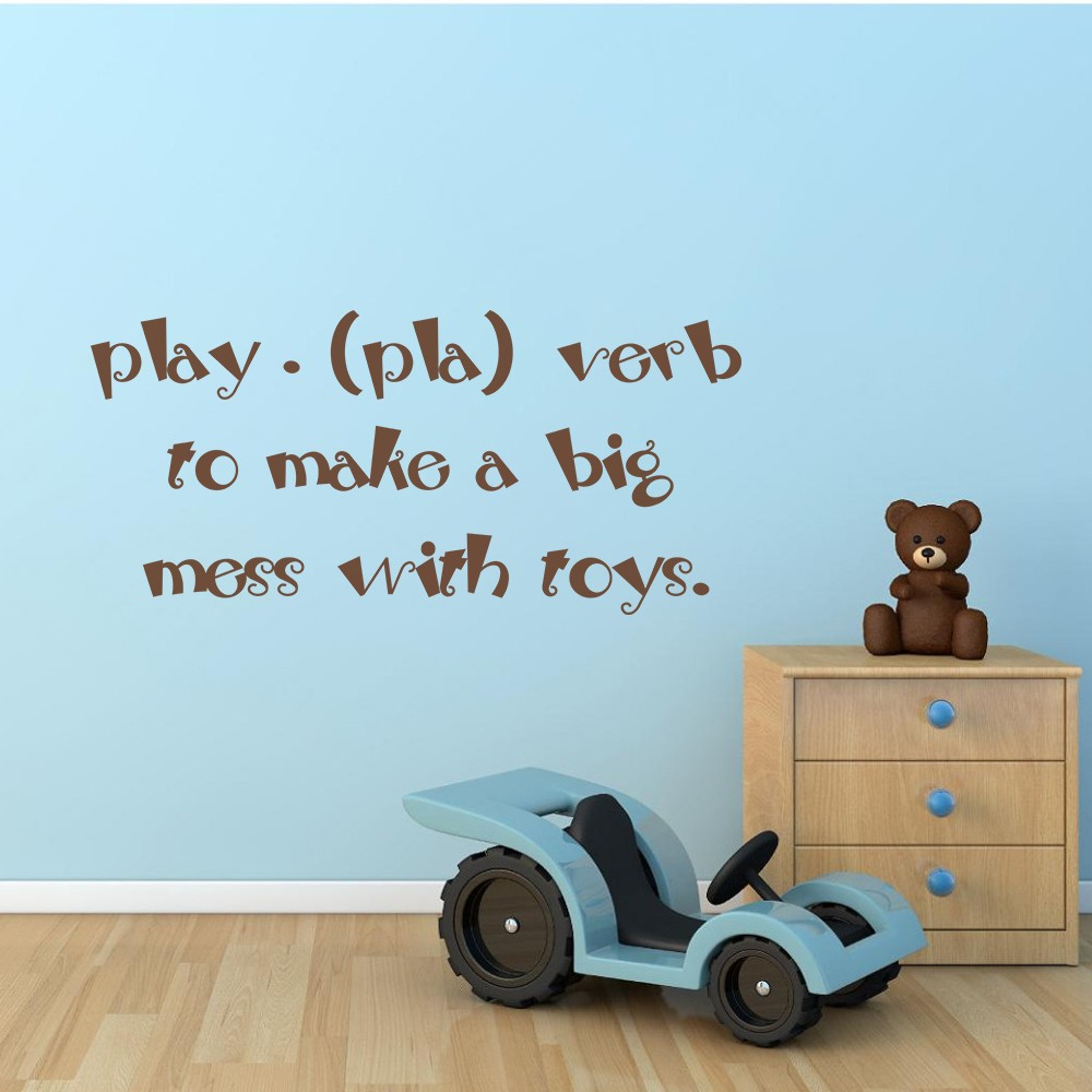 100 make a wall sticker design a wall sticker home interior play pla verb to make a big mess with toys baby nursery wall play pla verb