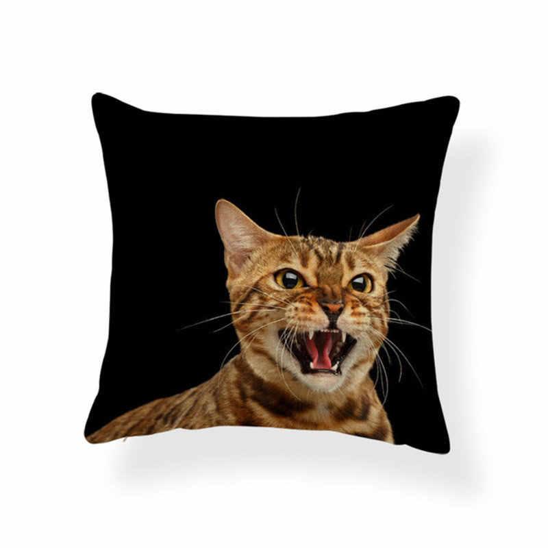 وسادة شناوزر سامويد الصلصال على شكل قطة كلب وسادة صينية للديكور المنزلي وسادة 18 بوصة من القطن المخلوط على الموضة العالية