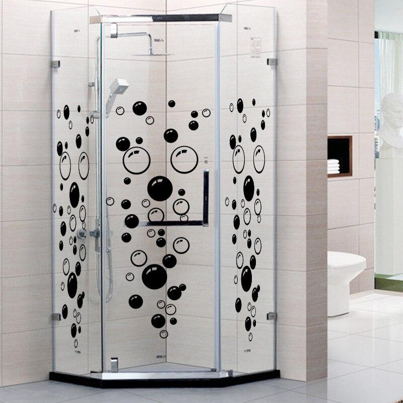 bathroom bubbles sticker wall tiles