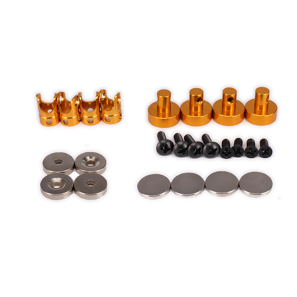21mm Long Magnetic Stealth Invisible Body Shell Mount Posts for 1/10 RC Model Car HSP WLtoys Axial Himoto Traxxas HPI Redcat