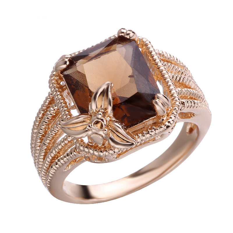 Zirconia engagement rings for women rose gold wedding high quality jewelry