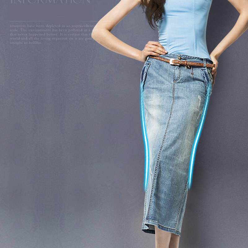 Aliexpress.com : Buy Women's Long Tight Pencil Skirt Denim Autumn ...