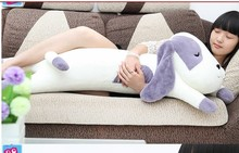 Plush dog pillow toy lovely lying dog cute stuff doll birthday gift about 115cm purple