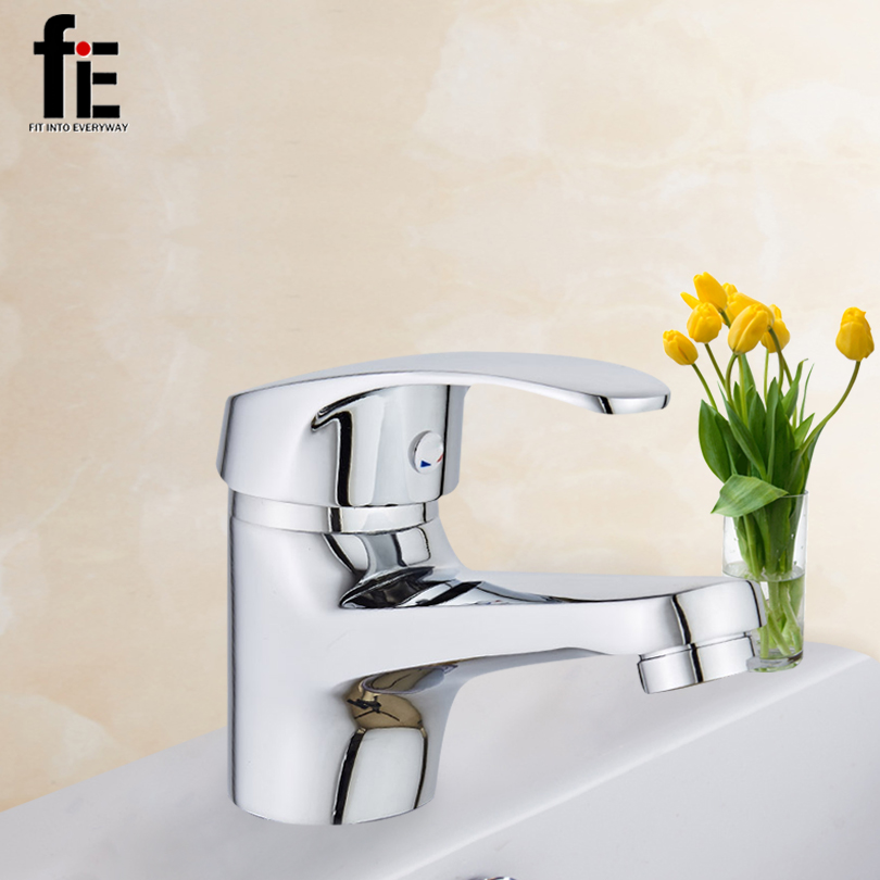 fiE Stylish Elegant Bathroom Basin Faucet Brass Vessel Sink Water Tap Mixer Chrome Finish