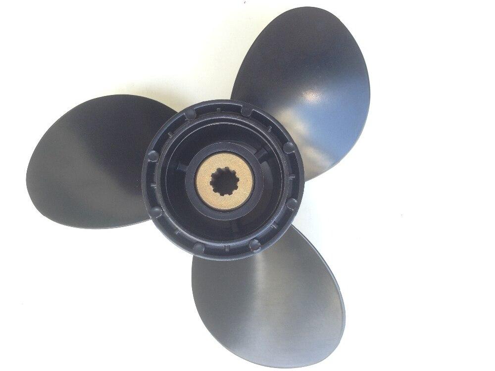 Propeller Aluminium 9-1//4 x 12 für Suzuki 8-20 PS 2 und 4-Takt