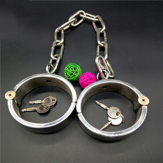 Heavy Duty stainless steel leg cuffs BDSM bondage restraints sex Slave adult sex games fetish legcuffs sex toys for couples