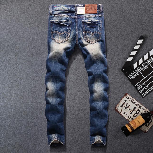 Men's Ripped Cotton Jeans