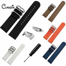 Haute Qualité Coloré Nylon Remplacement Watch Band Strap + Adaptateurs Pour Samsung Galaxy Gear S2 R720 Accessoires CLAUDIA