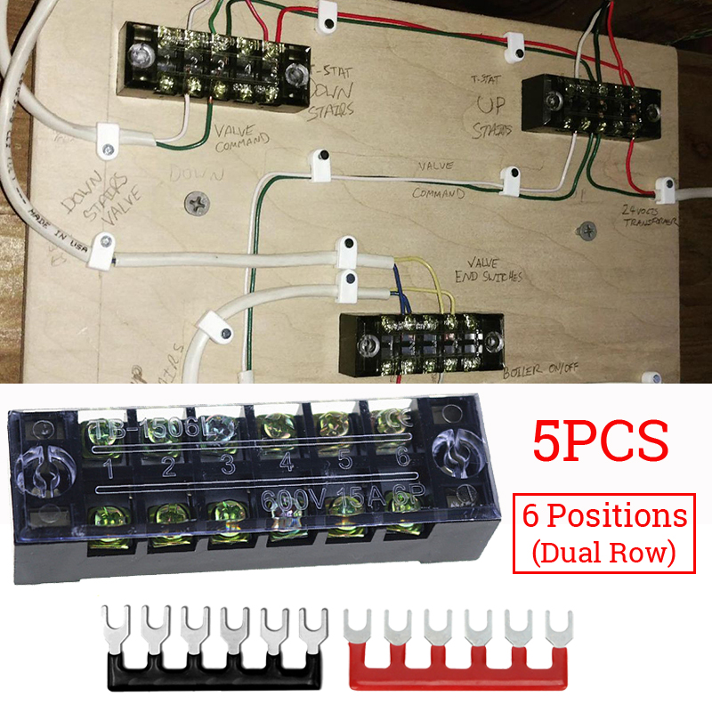 US $13 45 30% OFF 6 Points Power Distribution Bus Bar Terminal Block Set  15A 600V for Marine Rowing Racing Kayak Canoe Boats Dinghy Auto-in Marine