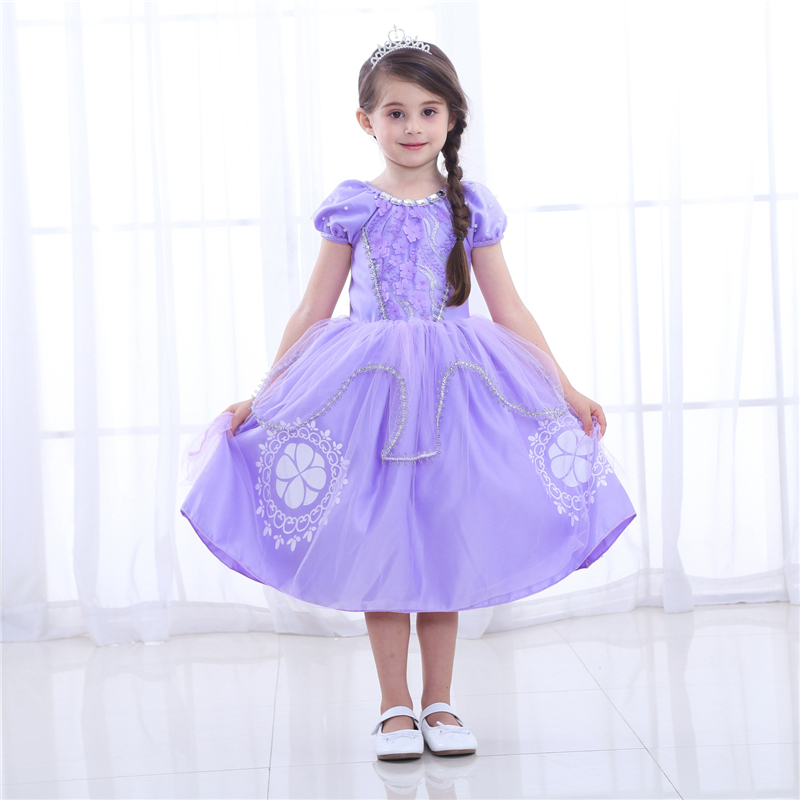 Sofia Princess Dress Kids Cosplay Costumes Girls New Arrival: Aliexpress.com : Buy Cartoon Sofia Dress Girls Dresses