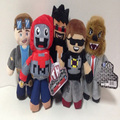 "Hot 2016 New 5pcs/lot 18cm/7"" Tube Heroes Plush Tube Heroes Dan TDM Captain Sparklez Sky Exploding Jeromeasf Stuffed Toys"