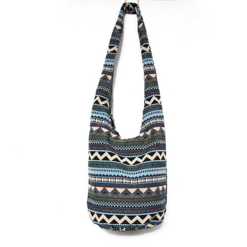 ... Vintage Striped Bags Sling Shoulder Crossbody Bags Women Handbag Large  Travel Bag Hippie Bohemian Hipster Messenger ... 5dd7b30cbbcf3