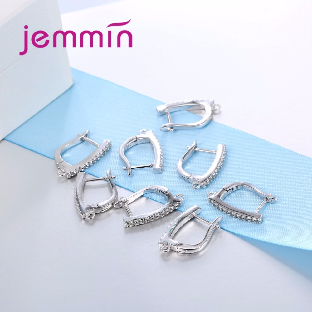 New Fashion Simple Style Women Party Jewelry Accessories 925 Sterling Sliver Earrings High Quality Holiday Gift in Earrings from Jewelry Accessories