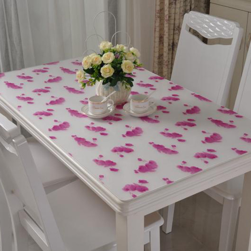 PVC Tablecloth Soft Transparent Crystal Glass Table Cloth Waterproof  Oilproof Disposable Plastic Table Mat Manteles Para