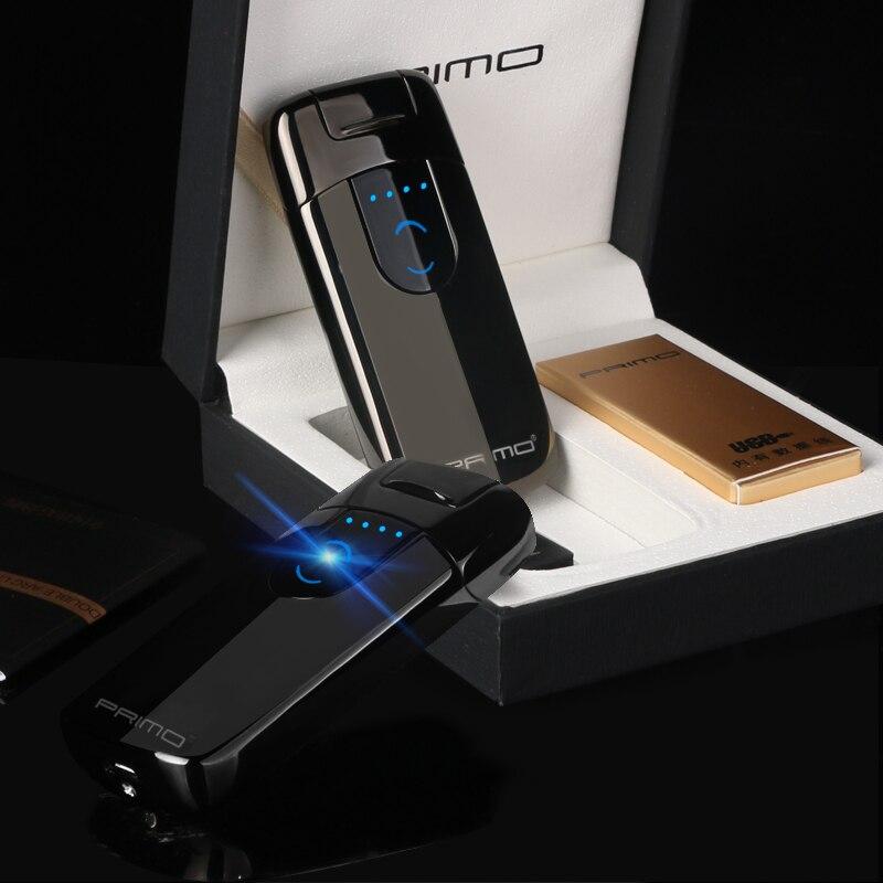 2018 persönlichkeit ausgesetzt zündung und display power arc smart geschenk Dual zigarette plasma leichter