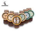 BOBO BIRD High Quality New Bamboo Wood Watch Case With Japanese Miyota Movement Leather Strap In Gift Box For Women