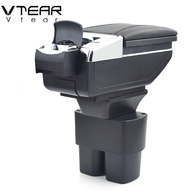 Vtear For Nissan NV200 accessories armrest styling car arm rest leather storage box center centre console interior decoration 17