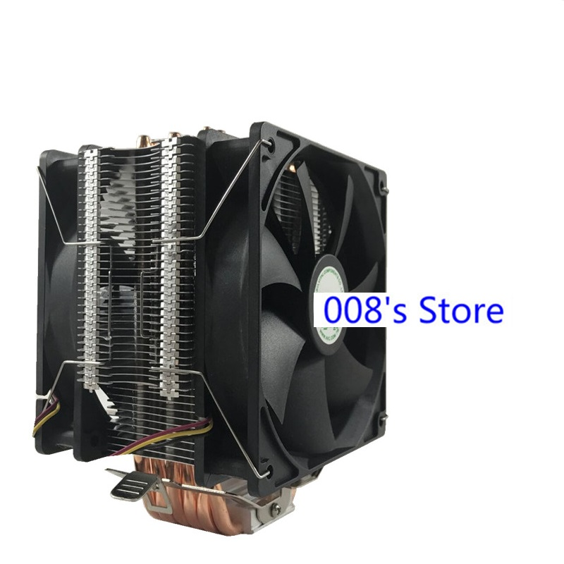 New Radiator CPU Cooler Cooling Fan For Intel 775 1151 1155 1156 1366 For AM4 AM3+ FM1 6 Heatpipes 12cm Led 4pin PWM By AVC image