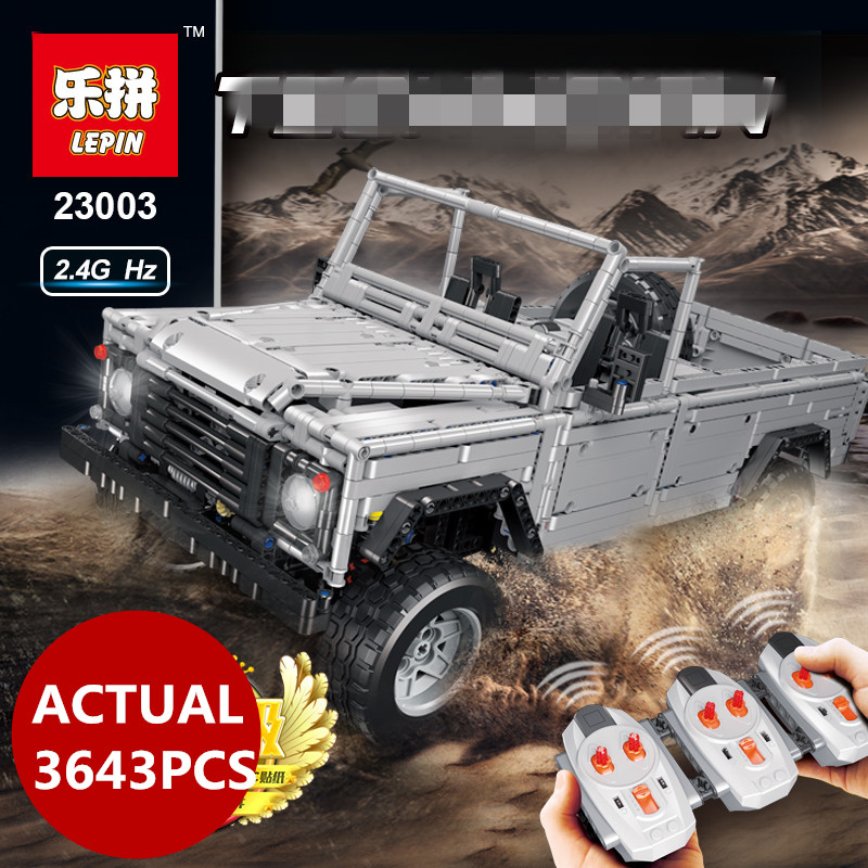 Lepin 23003 SUV Technic 3643pcs series Creative MOC RC Wild off road vehicles model Building Blocks