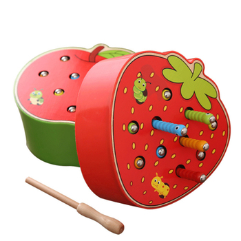 1 Set Caterpillar Eats Montessori Wooden Toys Baby Memory Training Matching Pair Game Math Early Education Interactive D56