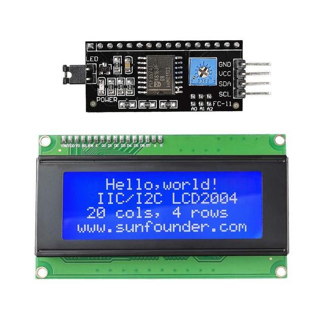 SunFounder IIC/I2C/TWI 2004/20x4 Modulo LCD Shield per Arduino Uno/Mega2560 elettronica FAI DA TE