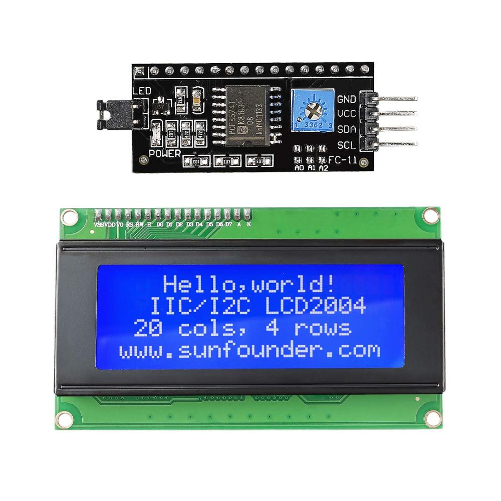 SunFounder IIC/I2C/TWI Serial 2004/20x4 LCD Module Shield For Arduino Uno/ Mega2560 Electronic DIY