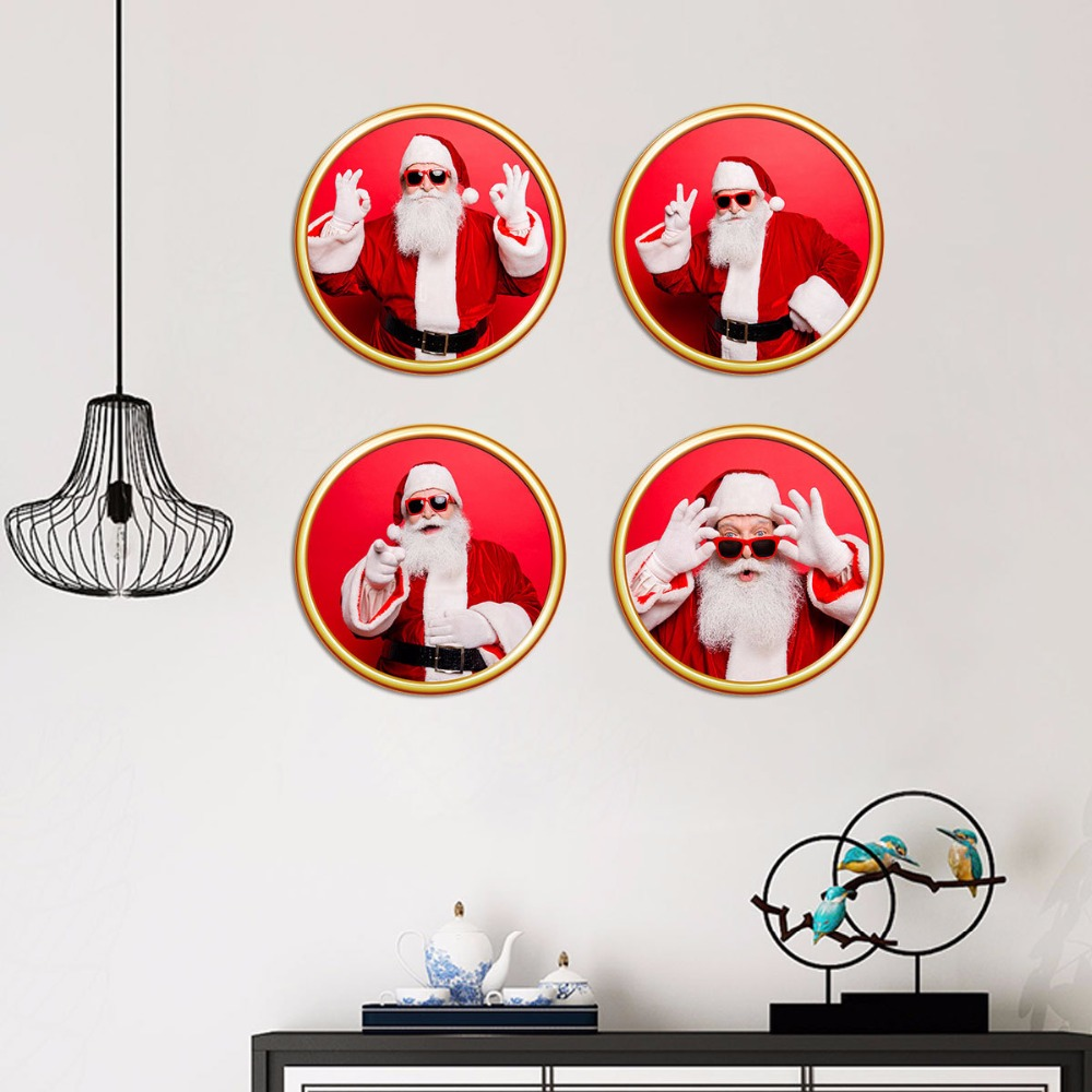 Nouvelle simulation nordique 3D peinture décorative PVC amovible étanche autocollant TV toile de fond noël restaurant décoration de la maison