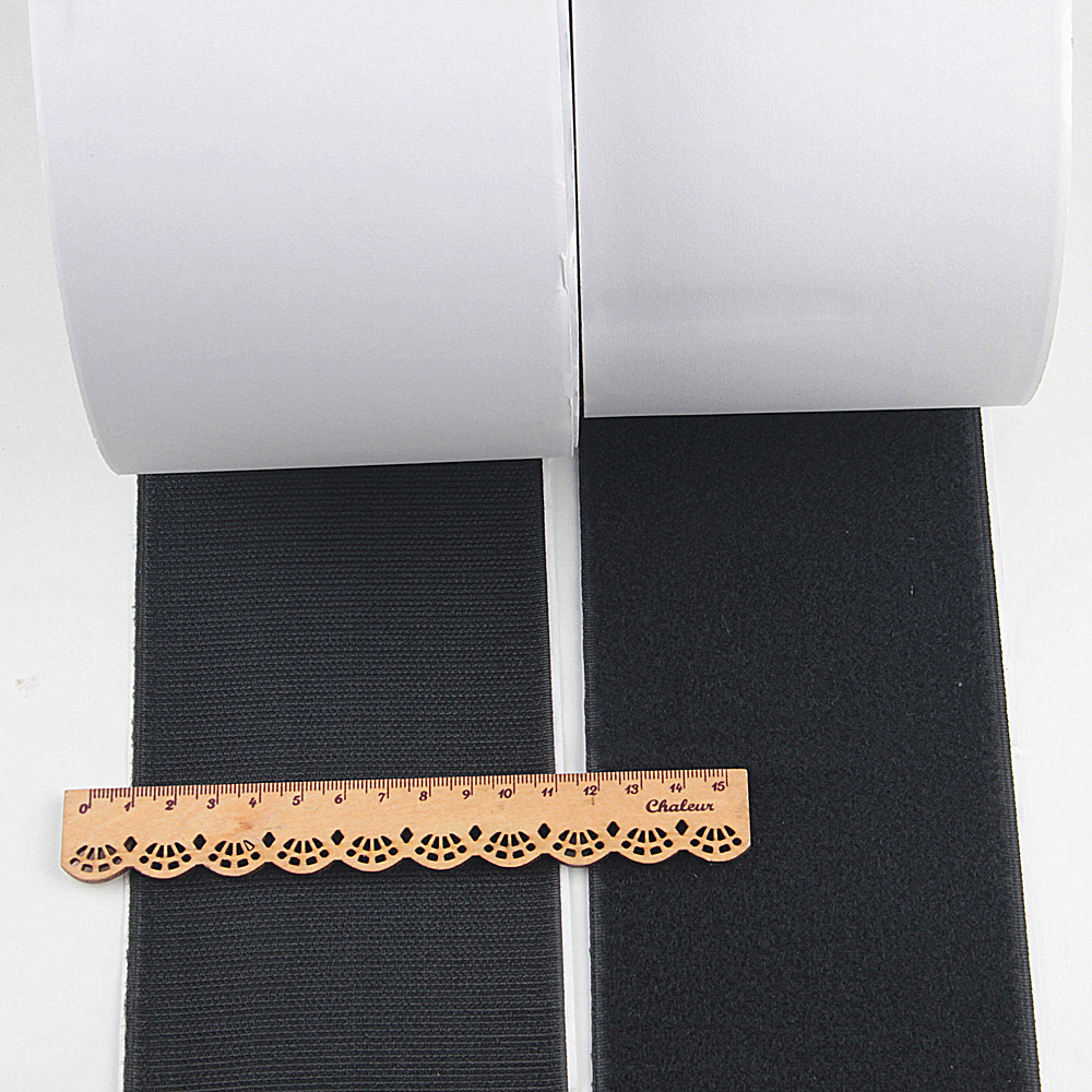 100mm*1m Black/White Hook And Loop Self Adhesive Fastener Strong Tape Hook And Loop Strip Tape Home Decotation