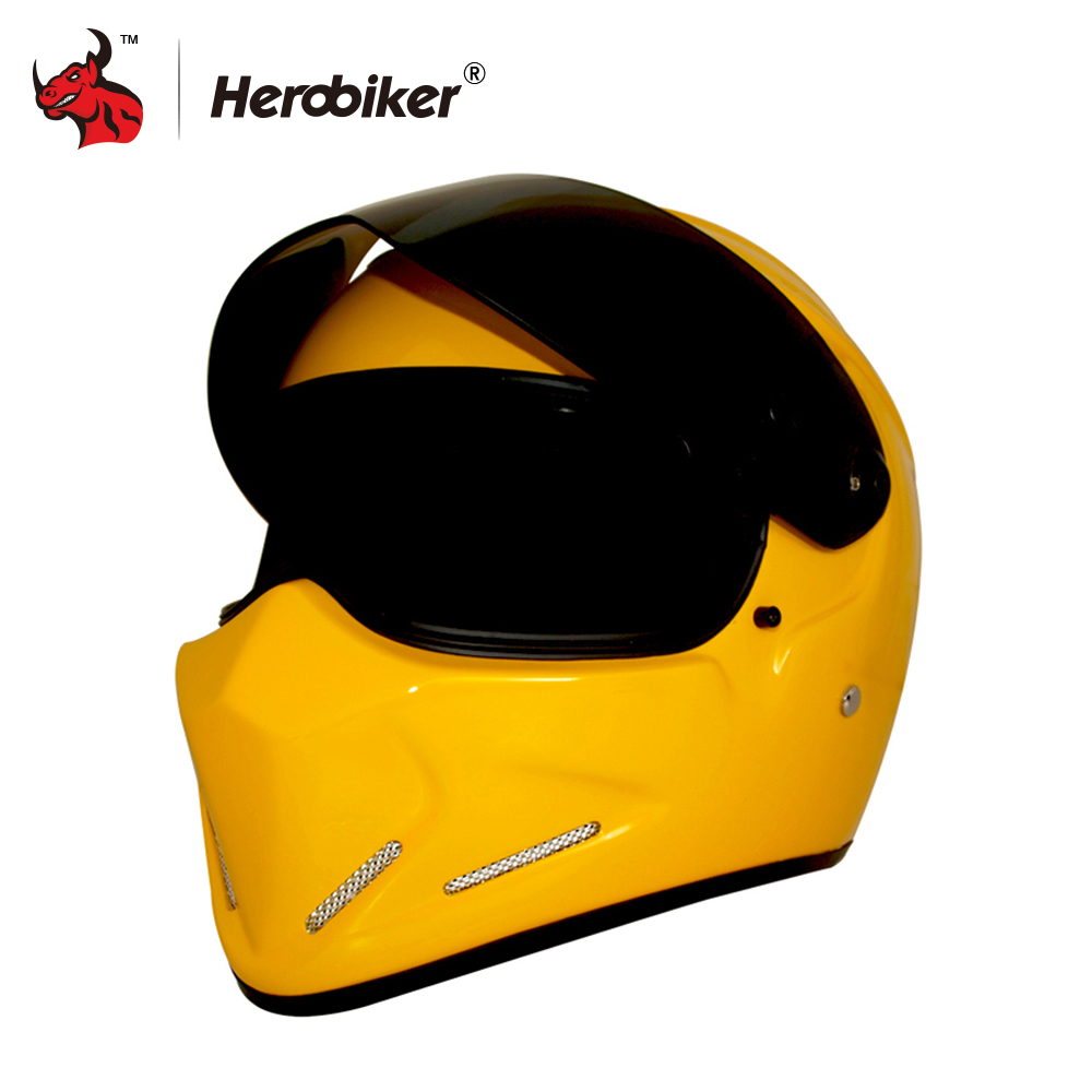 HEROBIKER Moto Racing Helmet Motobike Full Face Karting Capacete Casco Casque Moto  Fiber Glass Motorcycle Helmet motorcycle tank bag sports helmet racing motobike backpack magnet luggage travel bag water resistance