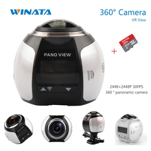360 Digicam 4K Wifi Mini Panoramic VR Digicam 16MP Extremely HD Panorama 360 Video Waterproof Digicam  with Authentic 32GB Micro SD Card
