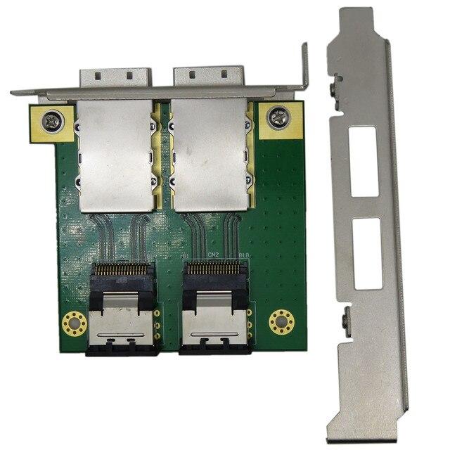 2 Ports Mini SAS for Internal SFF-8087 sas 36P to 2 Port External sas26P SFF-8088 Front Panel PCI SAS Card Adapter