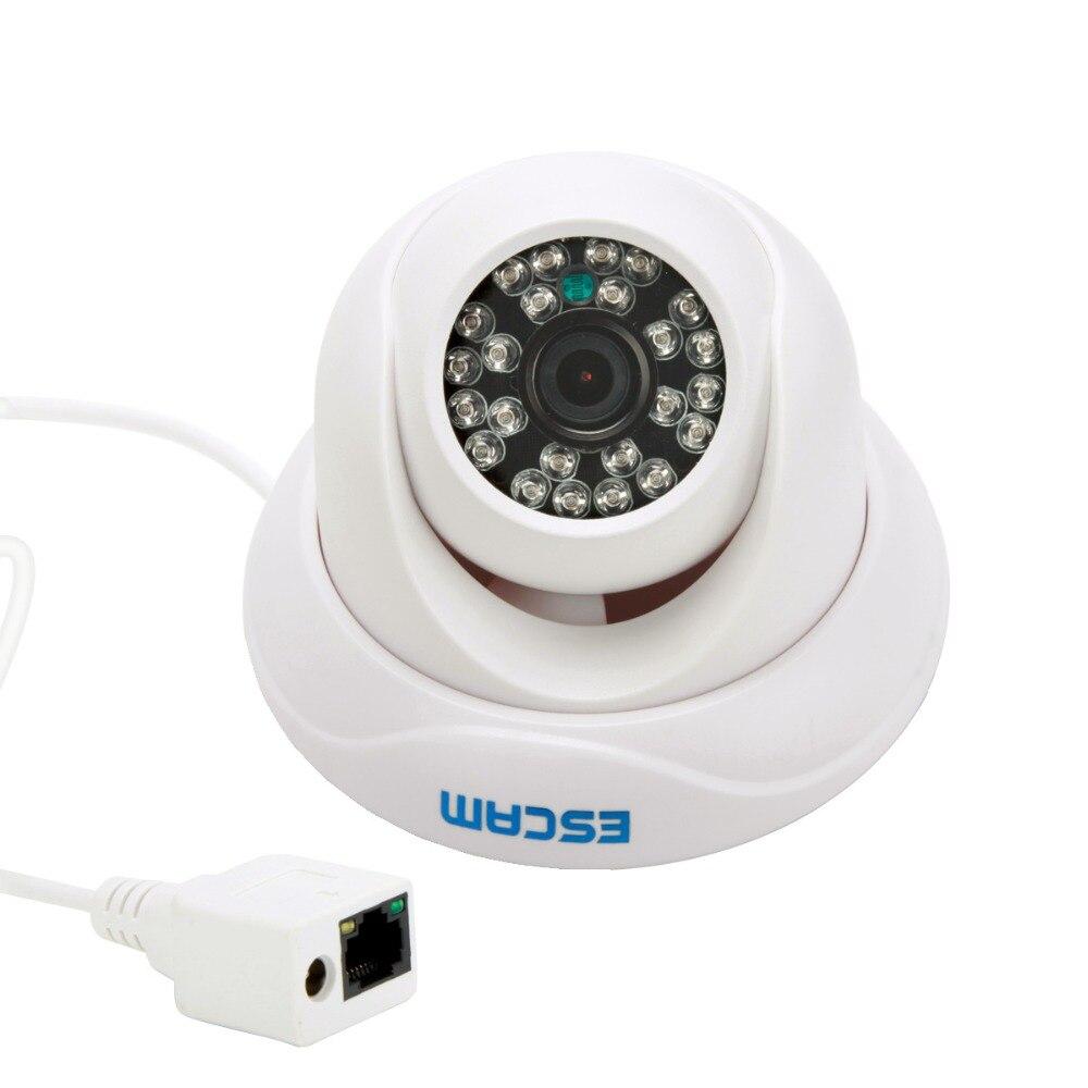 ESCAM Hd 720P Onvif Ip Camera H.264 Dual Stream 3.6MM Fix Lens Wired P2p Outdoor Waterproof Dome Security Cctv Camera QD500 practical escam brick qd900 wifi 1080p h 264 waterproof ip camera 3 6mm lens