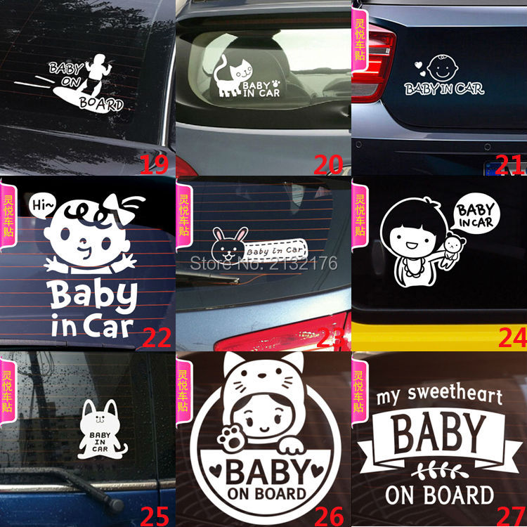 Cartoon Cute Lovely Kit skateboard Car Stickers Vinyl Styling Baby In Car Warming Decal Baby on Board On Rear Windshield White 6 5 adult electric scooter hoverboard skateboard overboard smart balance skateboard balance board giroskuter or oxboard