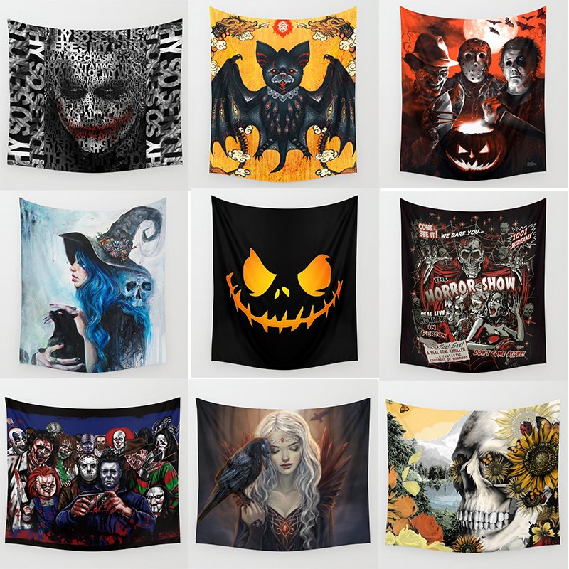 Hot sale halloween party  wall hanging tapestry home decoration tapiz pared 1750mm*1750mm