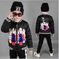 2016 Brand Children Print Character Jacket Kids Thick Winter Cotton Christmas Fashion Boy School Warm Outerwear Hot Sale