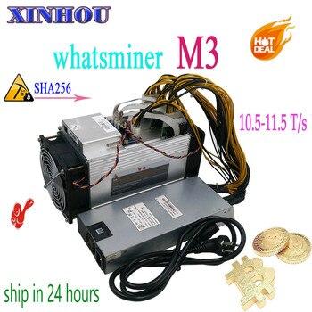 Używane BTC BCH górnik WhatsMiner M3 10.5 T-11.5 T z PSU Asic koparka bitcoinów lepiej niż M3x M10 Antminer S9 S11 T15 S15 Z11 B7 T3