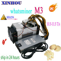 Used BTC BCH miner WhatsMiner M3 10.5T-11.5T with PSU Asic Bitcoin Miner Better Than M3x M10 Antminer S9 S11 T15 S15 Z11 B7 T3