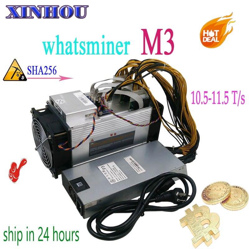 Utilizzato BTC BCH minatore WhatsMiner M3 10.5 T-11.5 T con PSU Asic Bitcoin Minatore Meglio di M3x M10 antminer S9 S11 T15 S15 Z11 B7 T3