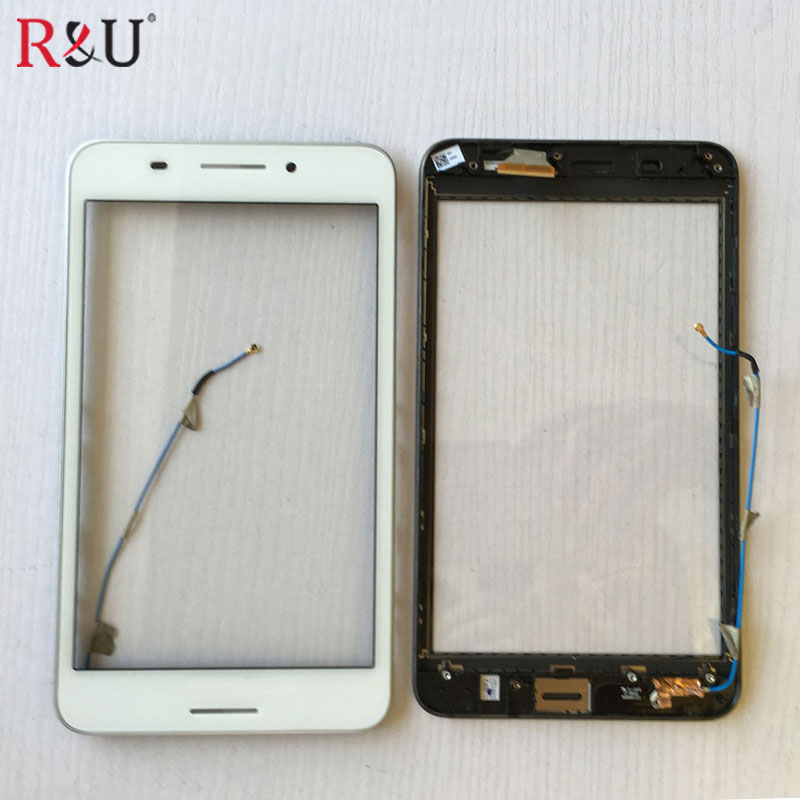 Used Parts 7 inch touch screen panel digitizer with frame replacement for ASUS Fonepad 7 FE375 FE375CG FE7530CXG ME375 K019 asus fe375 lcd display touch screen assembly with frame replacement parts for asus fonepad 7 fe375 fe375cg me375 lcd screen