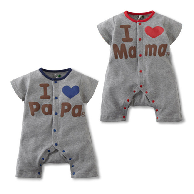 dae53bb05 Love Papa Mama Baby Clothing Summer Stlye Cotton short-sleeved Baby Girls  Baby Boys Clothes Baby Boy Clothes On Sale