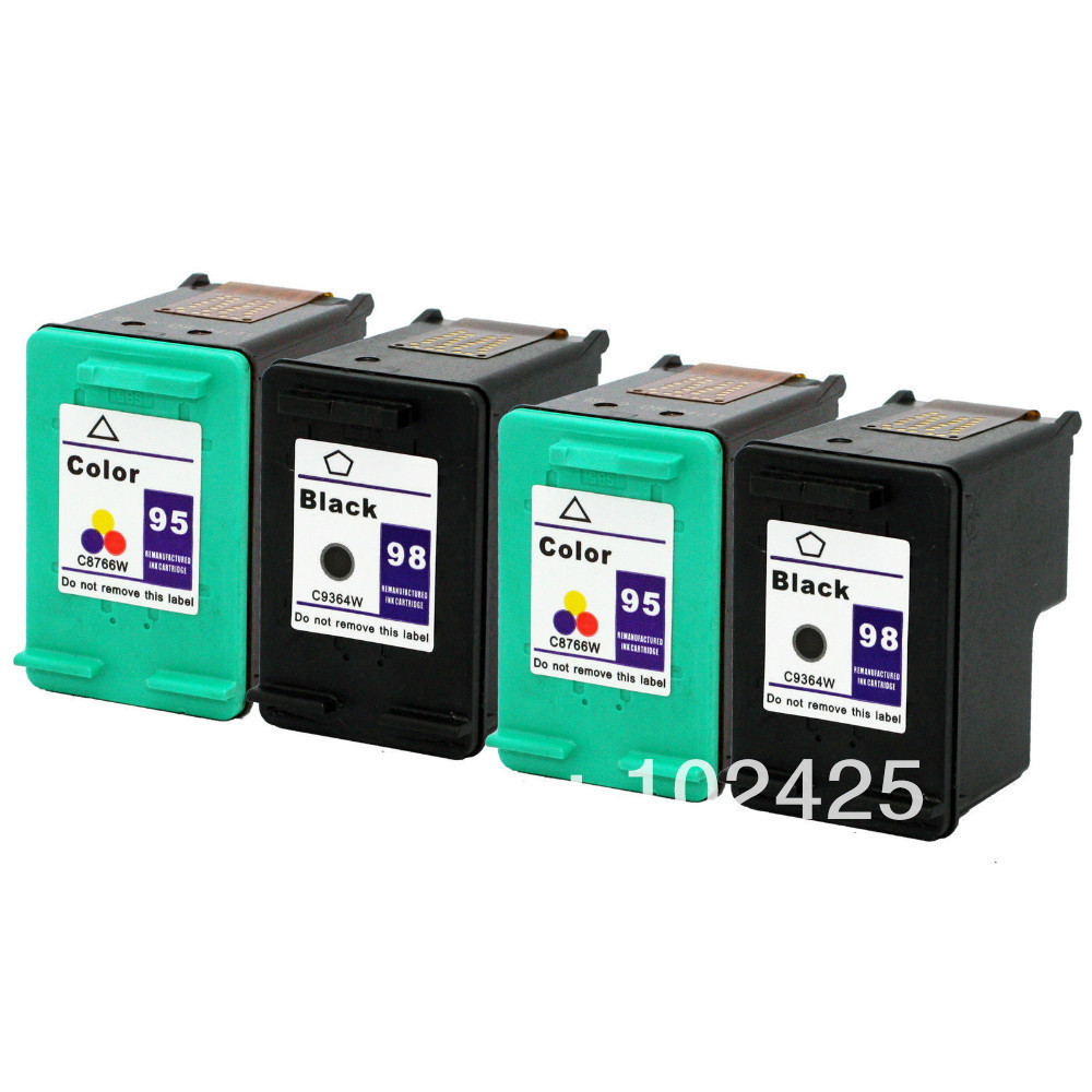 Color, 4 Pack 95 MS Imaging Supply Compatible Remanufactured Inkjet Cartridge Replacement for HP C8766W