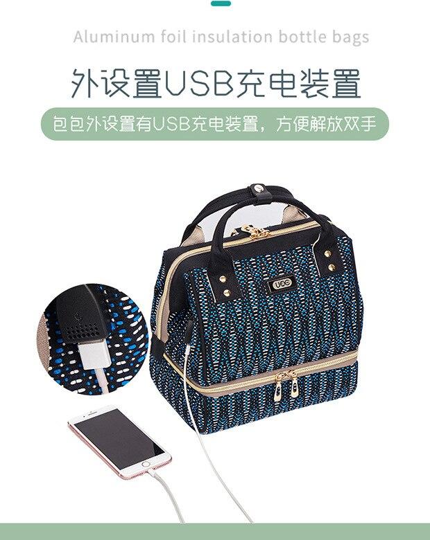 Fashion Portable Shoulder Small Mummy Breast Preservation Bag Maternal Baby Backpack Preserve Mother\`s Milk Bag Mon Backpack (4)