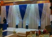 Wedding 3mx6m backdrop Wedding arrangement Wedding Sequins stage background with Beatiful Swag