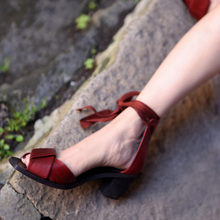 Artmu Original Vintage  Cross-tied Handmade Sandal