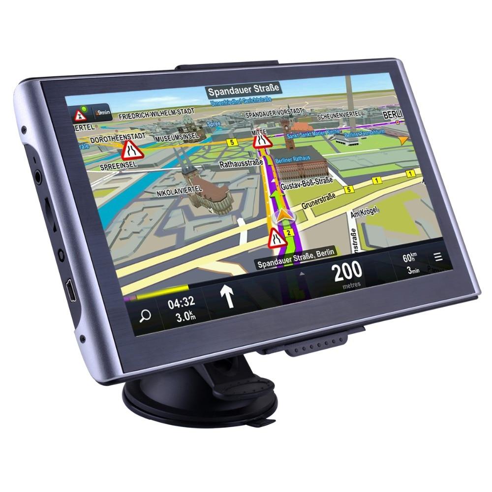 Luturadar 7 дюймов HD Автомобильный GPS навигации Bluetooth емкостный Сенсорный экран грузовой автомобиль Vans GPS навигатор FM великобритании европе Географические карты