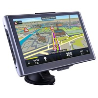 Navigation System Windows CE 7 Inch LCD Touch Screen Truck Vans Car GPS FM With Bluetooth