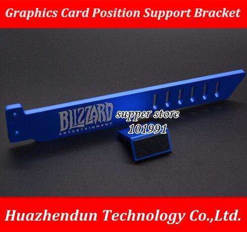 Новейшая модель; для GTX GEFORCE черный Алюминий металлический Графика отделение под карты Поддержка кронштейн видеокарта автономная Графика